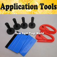 Wholesale Very Useful Magnet Holder M Felt Squeegee Vinyl Cutter Vinyl Film Car Wrap Tools Kit For Car Wrapping