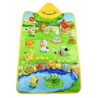 Wholesale baby music box play gym mat Infant floor blanket children s play mat ELC play gym Baby crawling mat