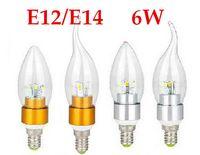 Wholesale chandelier bulbs E14 E12 Led Candle bulb led lamps Energy saving lamps led lighting W W SMD leds New Arrival on sales
