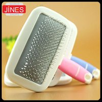 Wholesale pieces Pet Dog Cat Shedding Grooming Pin Hair Removal Brush Comb dog Cleaning Relieve fatigue