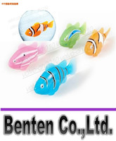 Wholesale LED Fish Electronic Pet Robot Fish Magical Turbot Educational Pet Electronical Toy Mech Bass Swimming Sharks Creative Baby toys byf LFA2116F