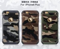 army camouflage for sale - 2016Hot Sale Army Camo Camouflage iPhone case Hybird PC TPU Silicon Back Cover With Card Slot For Iphone s plus case Samsung S6 edge