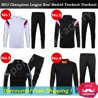 Wholesale Reals Madrid Soccer Jacket Champions Football Training jacket Ronaldo Sportswear soccer tracksuits