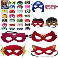 Wholesale Superhero masks Superman Batman Spiderman kids Cosplay masks cartoon kids masks Superhero Party Cosplay Masks