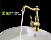 antique plumbing - 2016 Luxury Elegant Antique Gold Bronze Faucet Kitchen Bathroom Vessel Sink Mixer Tap Swivel Cozinha Torneira Plumbing Sanitary