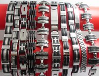 Wholesale 10X Design Mixed Quality Men s Fashion Stainless Steel Bracelets Jewelry