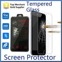 Wholesale For Iphone Plus Shield Screen Protector Film Tempered Glass For S7 S6 For Iphone s Samsung on5 on7 J3 S5 C5 C7 LG k7 Retail Package