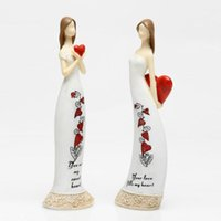 Wholesale Two kinds Young girls holding a heart fashion cake topper ornaments Interior Accessories Decorations Articles birthday party decorations
