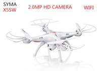 Wholesale SYMA X5SW FPV RC Drone Headless Quadcopter with WiFi Camera G Axis Medium Helicopter Quad copter Model