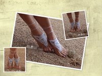 beaded sandles - 6 off cheep Beach Barefoot Sandals White Silver Barefoot sandles Nude shoes Foot jewelry Beaded sandals Beach wedding pairs