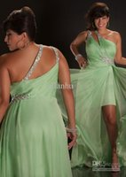 Reference Images dress one size - Custom made plus size green one shoulder sheath chiffon formal evening dresses sequins beaded floor length backless sexy prom gowns MD6314
