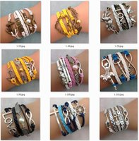 antique picking - Antique Anchor Infinity bracelets HI Q Jewelry fashion Mixed Infinity Charm Bracelets Silver Style pick for fashion people