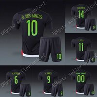 Wholesale Mexico copa america jersey WITH SHORTS home black soccer uniforms football kits chicharito dos santos Guardado Peralta