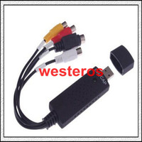 Wholesale Best Newest Easycap USB Audio Video VHS to DVD Converter Capture Card Adapter C337