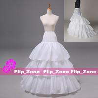ruffle yarn - Plus Size Ivory Petticoats for Chapel Train Wedding Dress Panniers Crinoline Skirt Tiers Hoop Skirt Trailing Bridal Ball Gowns Underskirt