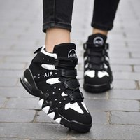 air soles shoes for women - Female Sports Shoes Air Cushion Sole Vampire Fashion Running Shoes For Women Thicken Comfortable High Top Casual Shoes Ladies Retail