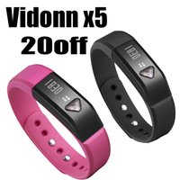 Cheap Wholesale-Vidonn x5 Bluetooth 4.0 healthy Smart Wristband Sports Sleep Tracking Health Fitness fuelband with ABS ,TPU for iphone 5 s
