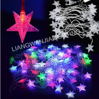 Wholesale 10M LED Star String Lights Christmas Xmas Decoration Wedding party LED String Lights v V Bar Decoration Fairy lights