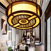 antique wood chandelier - Chinese art of wood carving chandelier antique chandelier sheepskin lamp lighting lamps living room restaurant hotel restaurant