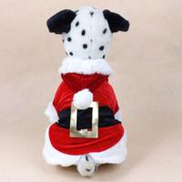 Wholesale Pet Puppy Dog Christmas Clothes Santa Claus Costume Outwear Coat Apparel Hoodie