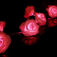 beautiful garden designs - Beautiful Design LED Battery Operated Rose Flower String Lights Pink Lighting Wedding Garden Christmas Decor Lowest Price