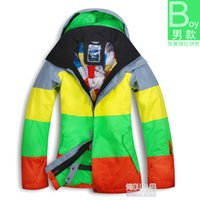 big mens ski jackets - Fashion Mens Brand Winter Snow Waterproof Winterproof Skateboard Big Stripe Skiing Jackets Warm Ski Coat Ski Suit Men