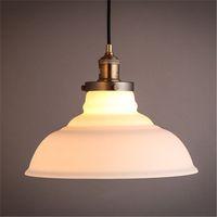 amber cafe - American Village Industrial Retro Glass Amber DIY White shade Pendant Lamp Bars Cafes Restaurant Vintage Pendant Light