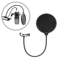 filter pop - DGOO Studio Microphone Mic WindScreen Recording Pop Filter Mask Shied Black