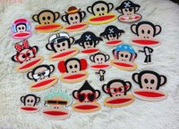 other iron on patches for kids - 24 random Monkey styles embroidered fabric Iron on Sew on cartoon sticker patches badges for kids clothing