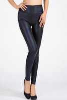 gold leggings - 2015 Woman Casual Leggings Gold Blue Shadow Metallic Snakeskin Leggings Fashion Style Clothes B7073