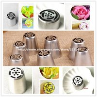 Wholesale Russian Tulip Nozzle Cake Cupcake Decorating Icing Piping Nozzles leaf russiarose nozzles tips