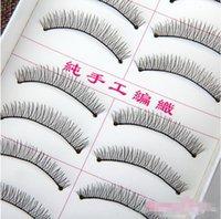 Wholesale Eyelashes Pair Thick Long natural long winged crisscross tapered False Eyelashes Eyelash Eye Lashes Voluminous Makeup