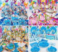 Wholesale 28 Styles Kids Birthday Party Decoration Sets Party Supplies Boys and Girls Birthday Party Supplies Cartoon Them Party Pack