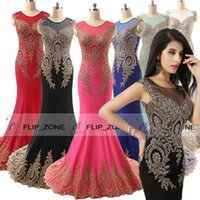 Cheap Model Pictures Evening Dresses Best Black Crew Neck Prom Gowns