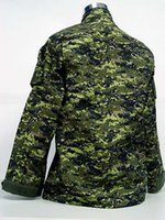 bdu suit - Fall BDU Canada Army Battle Uniform Woodland Digital Camouflage Suit Military Combat Uniform Sets Jacket and Pants
