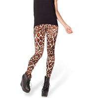 Acheter Girafe haute-Gros-Space Imprimer Pantalon Legging Fitness BÉBÉ GIRAFFE taille haute LEGGINGS femme Leggings Digital Printing Fitness Leggins