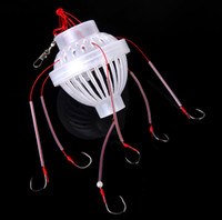 Wholesale Carbon Steel Plastics Carp Fishing Hook Sea Monster with Six Strong Spherical Fishing Hooks Tackle Tool