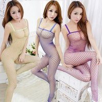 adult pink leotard - Hot Asian Leotards Clothes Sexy Babydoll Pink Unitard Lingerie Open Crotch Compression Fishnet Dress Adult Sex Products