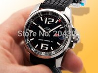 Wholesale Brand New Hot Sell XL Black Dial Men s Automatic Mechanical Date Watch Stainless Steel Mens Sports Wrist Watch Rubber Strap