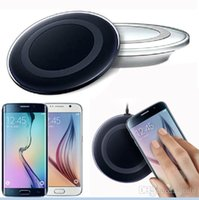 Wholesale Qi Wireless Charger Mini Charging Pad Power Bank For Samsung Galaxy S6 S6 Edge Cell Phone Chargers with Retail Package