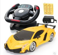 Wholesale Accelerometer boy toy car steering wheel remote control car wireless charging remote control toy racing car