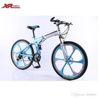 Wholesale Mountain bikes Folding bicycles speed inch magnesium alloy wheels xirui X6 road bike red for Male unisex children