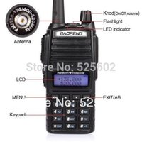 Wholesale 2014New BaoFeng Newest Handhold Two Way Radio UV Walkie Talkie Dual Band MHz MHz FM Transceiver