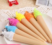 Wholesale Valentine s day gifts New material escolar gel pen Ice cream pen shape pens for writing JIA086