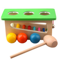 benches baby - Children Baby Wood Sound Knock Ball Percussion Punch and Drop Instruments Pound Pounding and Roll Bench Tower year old