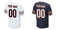 Wholesale Custom Amerian football Men s Elite Bears jerseys any name and number High Quality and Cheap allow Mix Order