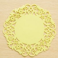 Wholesale Lace Flower Table Mats Drink Coasters Coffee Cup Plate Bowl Pad Placemats For Table Kitchen Accessories JE0121 Salebags