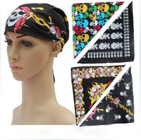 Wholesale 100 Cotton Peace Smile Skull Bandana Headwear Hair Bands Scarf Neck Wristband Wrap Head Tie Band