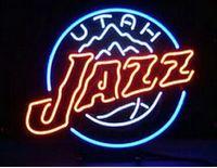 american sports store - New MLB American Baseball Utah Jazz Real Glass Tube Neon Sign Lighting Bar Store Game Room Park Sport Sign Light quot X15 quot