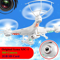 Wholesale RC Drone SYMA X5C G CH Axis Remote Control RC Helicopter Quadcopter Toys Drone Ar Drone With HD Camera GB SD Card